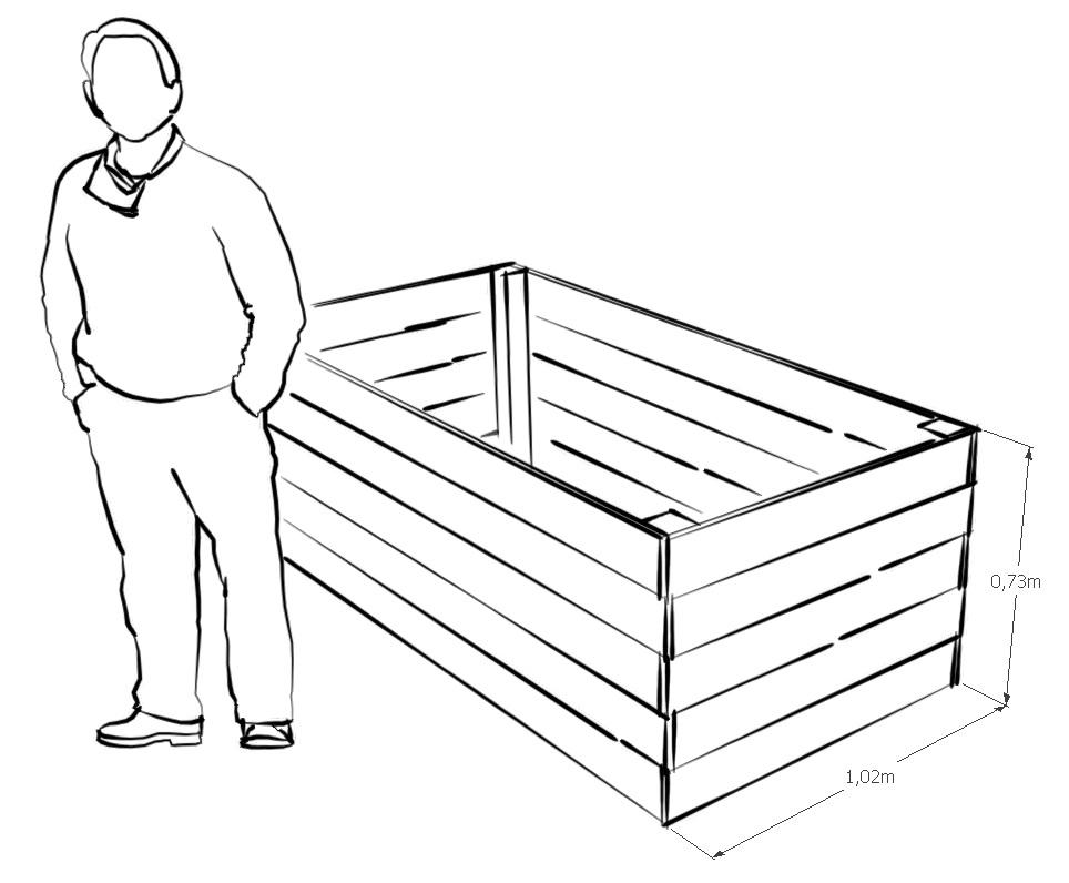 diy ein eigenes hochbeet bauen. Black Bedroom Furniture Sets. Home Design Ideas